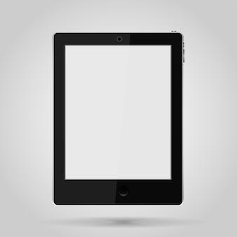 タッチスクリーン付きの黒いタブレット