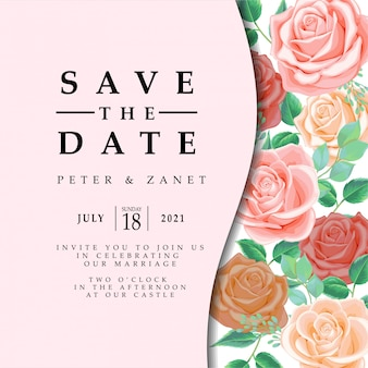 フェミニンな花の除草イベントの招待状の編集可能なテンプレート