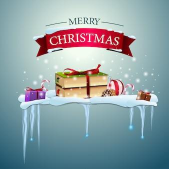 ハッピークリスマスロゴとクリスマスブック