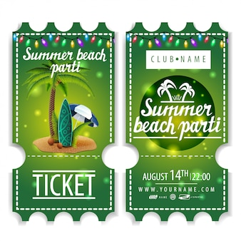 Билеты на летнюю пляжную вечеринку