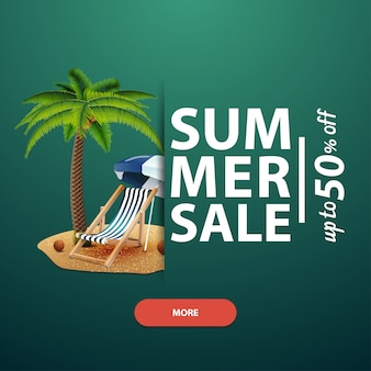 サマーセール、あなたのウェブサイト、広告および昇進のための正方形のバナーのテンプレート