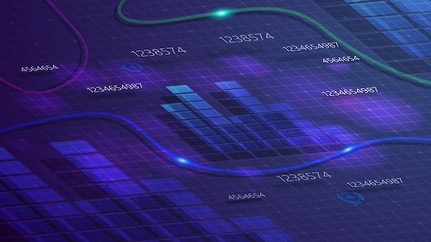 スケジュールとあなたの創造性のための紫色のデジタル背景