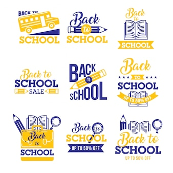 学校のロゴのコレクション