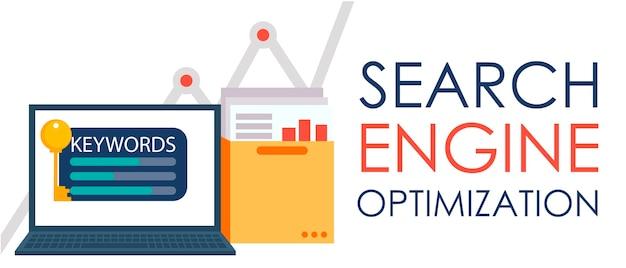 検索エンジン最適化。ドキュメントとグラフのフォルダーとキーを持つノートパソコン。