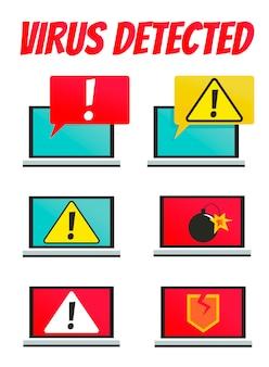 ウイルスのあるコンピュータ