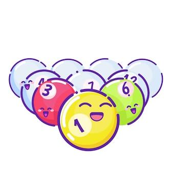 色付きプールボール