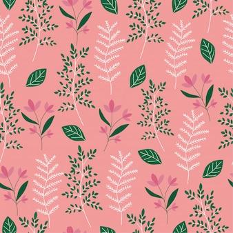 Цветочный и лист узор фона