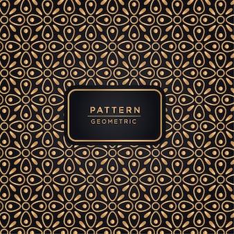 金色の高級幾何学模様の背景