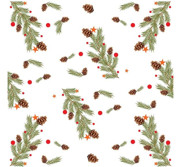 針葉樹のベクトルパターンの背景