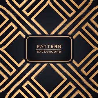 金色のエレガントな装飾のパターンの背景