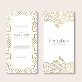 Декоративный элегантный шаблон приглашения на свадьбу