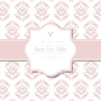結婚式のバッジを持つ装飾的なパターン