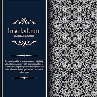 装飾的な結婚式招待状