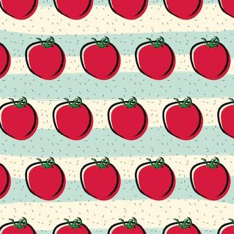 トマトフルーツパターン背景
