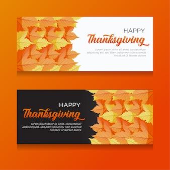 ハッピー感謝祭のお祝い挨拶バナーデザイン