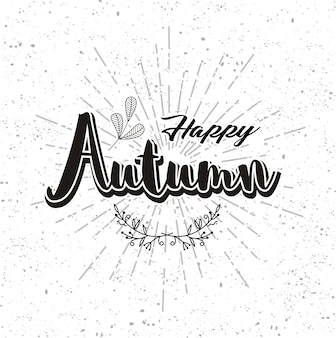 幸せな秋の手描き