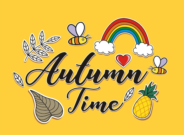 秋の手を描く