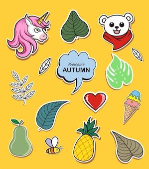 ウェルカム秋の手描き