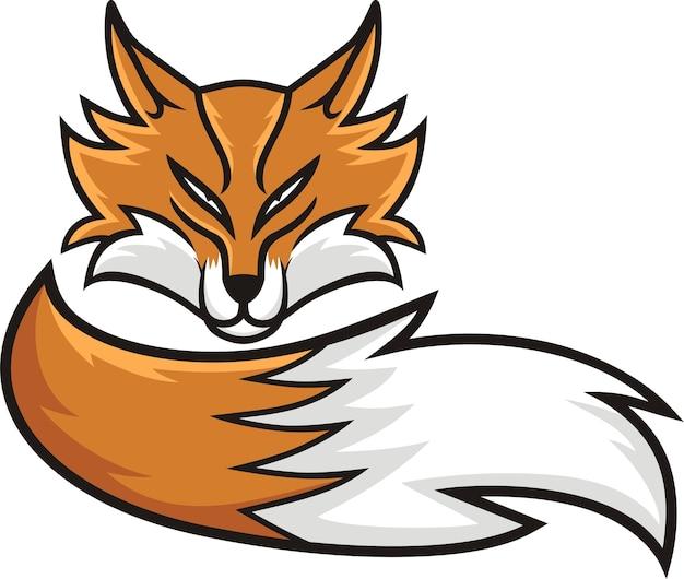 キツネの頭のマスコット