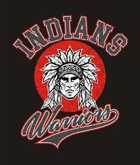 Индейцы воинов для футболки