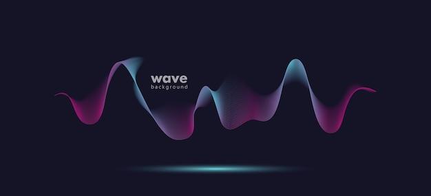 抽象的なサウンドモーションウェーブグラデーションラインの背景。