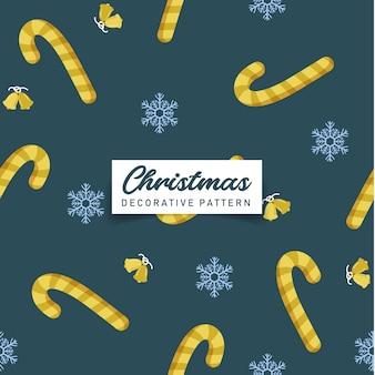 クリスマスゴールドキャンディーシームシームレスパターン