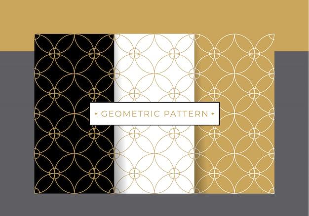Золотой роскошный геометрический рисунок коллекции набор.