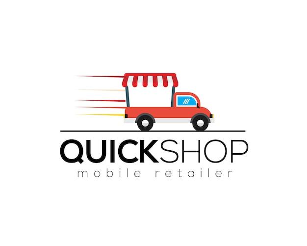 Шаблон логотипа быстрого магазина