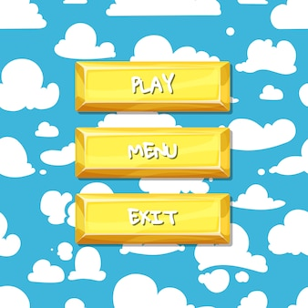 Кнопки с текстом для игры