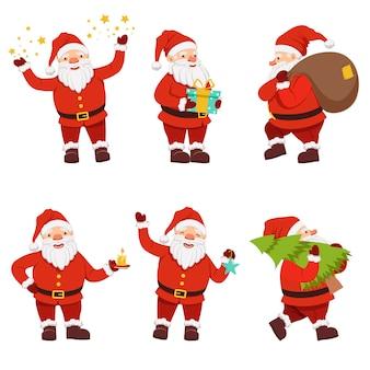 かわいいサンタのクリスマスキャラクターコレクション