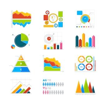 インフォグラフィックのための現代の要素