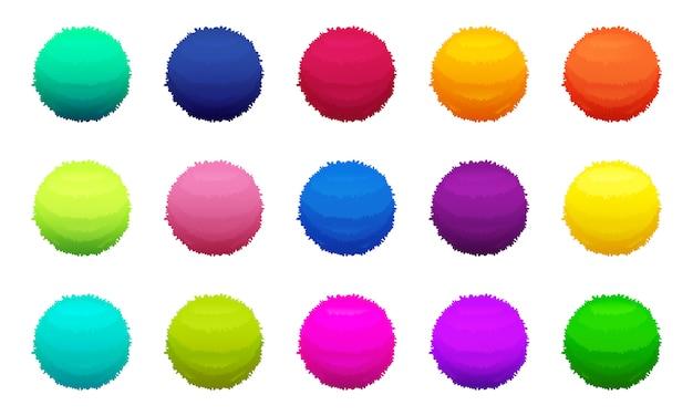 Пушистые цветные шарики
