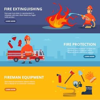 制服を着た消防士