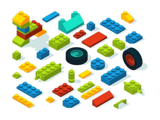 プラスチックコンストラクター等尺性レンガ白を分離します。