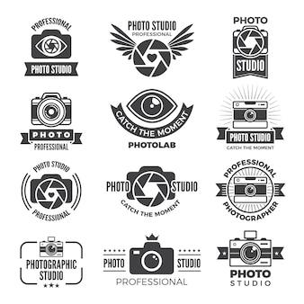 ロゴタイプと写真スタジオのシンボル