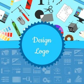 モノクロとカラーパーツを使ったデジタルアートデザイン。描画アートツールデジタル、創造的な芸術的なウェブバナー