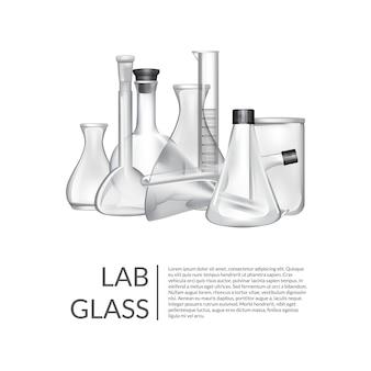 С местом для текста и химической лаборатории стеклянные трубки