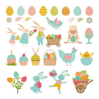 ウサギ、卵などのイースターのシンボル