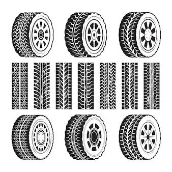 Гоночные колеса и их формы протектора