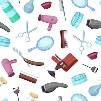 美容院または理髪師のパターンの背景