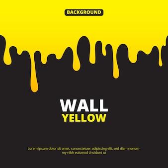 黄色の塗料滴下と背景