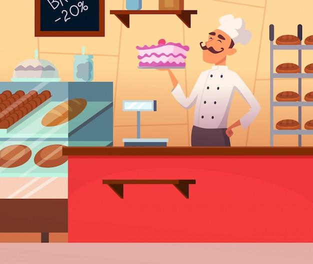 Пекарь на работе