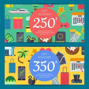 フラット旅行要素割引またはギフトカード