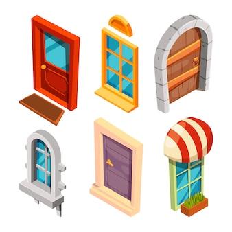 等尺性のドアと窓