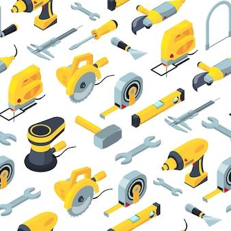 Строительные инструменты изометрические аксессуары