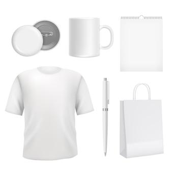 Корпоративные заготовки сувениров. шаблон элементов бизнес идентичности