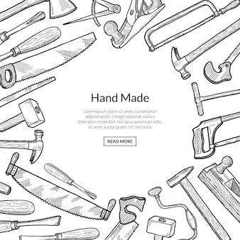 手描き木工要素図