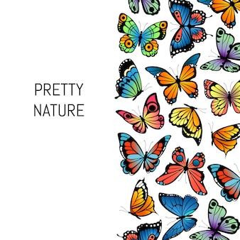 装飾的な蝶背景きれいな自然