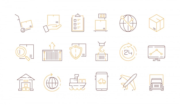 Коллекция икон логистики