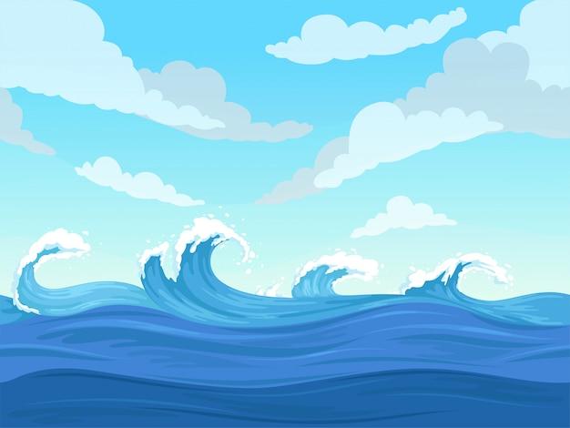 海の表面波背景